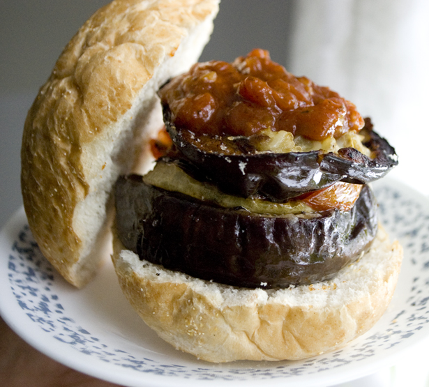 Whiskey Roasted Veggie Burger