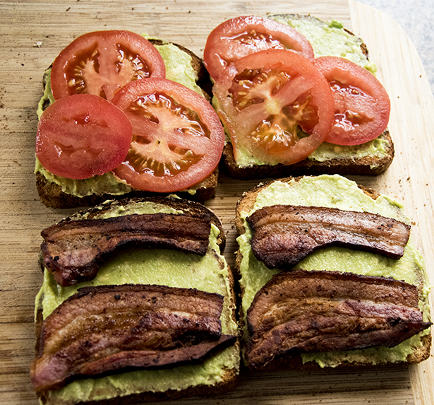 Bacon Avocado and Tomato Sandwich