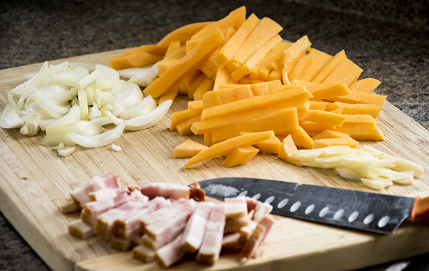 Bacon and Butternut Squash Penne